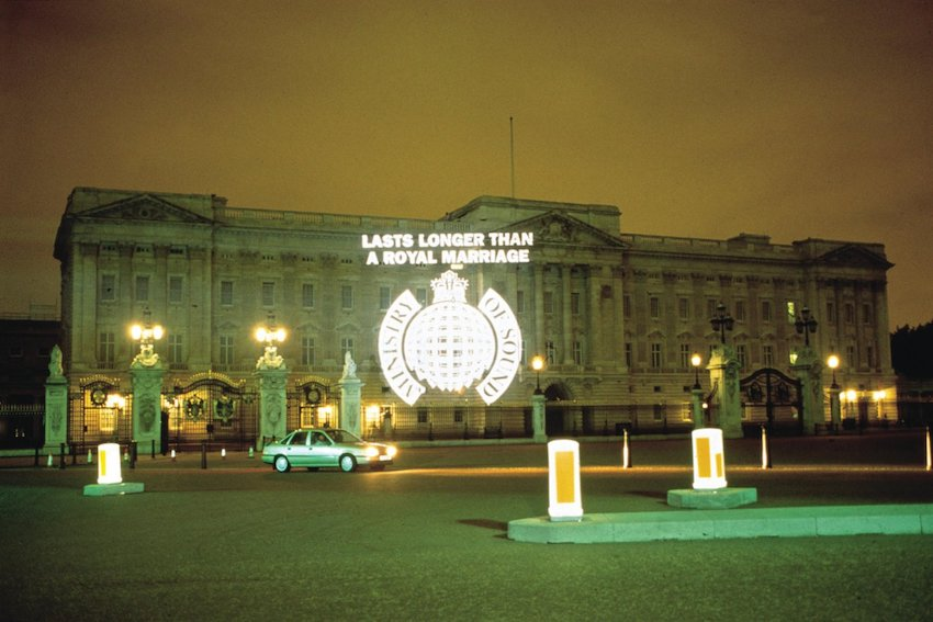 We are not amused: Ministry of Sound celebrated its fifth birthday in 1996 with a typically mischievous PR stunt.