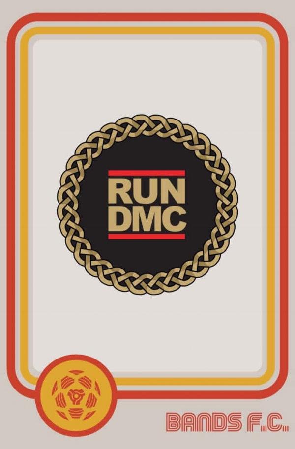 Bling it on: Run DMC FC's typically understated crest.