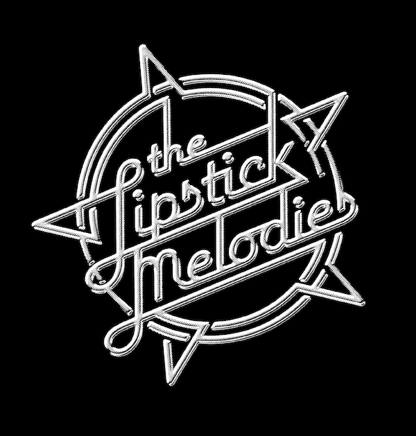 "Let it lip: ""a nod to the 1970s Top of the Pops logo"" for London five piece The Lipstick Melodies. ©Rian Hughes."