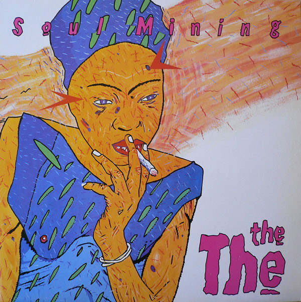 Smokin': The cover of Soul Mining (1983), features an Andrew Johnson painting of one of Afro-beat pioneer  Fela Kuti 's wives, mid spliff. Designer Fiona Skinner's logo and hand-rendered alphabet are recreated in vivid pink with a black outline.