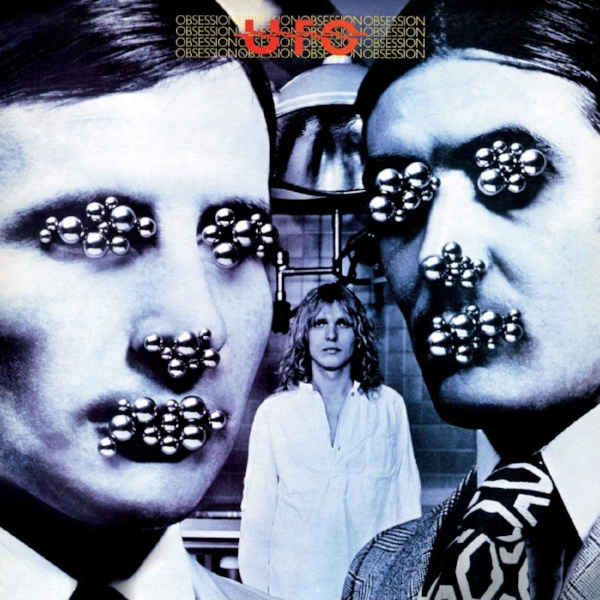 Eye, eye: Geoff Halpin's logo first appeared in red on the band's seventh album, 'Obsession' (1978). Cover design by (you guessed it) Hipgnosis.