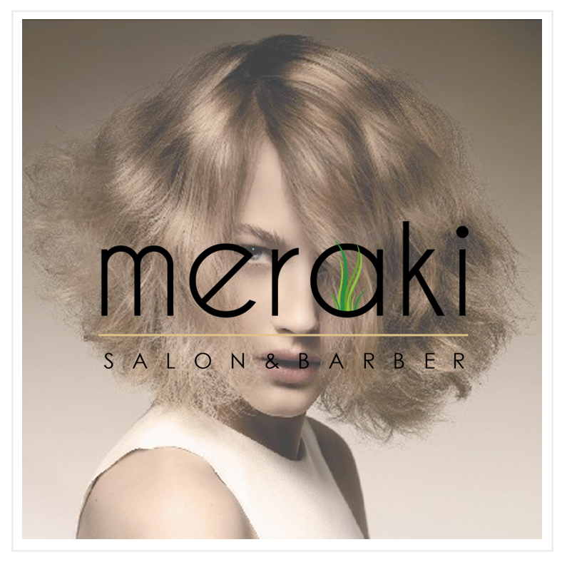 Meraki Salon & Barber Logo Design