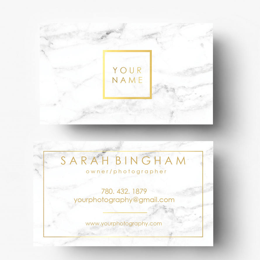 Gold Foil Marble Business Cards Gold Logo Photography Logo