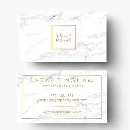 Gold foil marble business cards gold logo photography logo gold foil marble business cards gold logo photography logo marble branding marble logo pre made template custom business card reheart Image collections