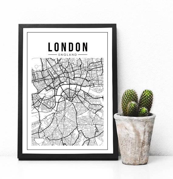 London Map Print London England Map London Printable London