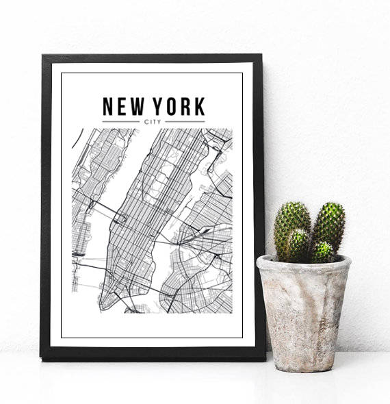 Map Of New York Poster.New York City Map Print New York Map New York Printable New York Poster Map Poster Manhattan Map Wall Decor Wall Prints
