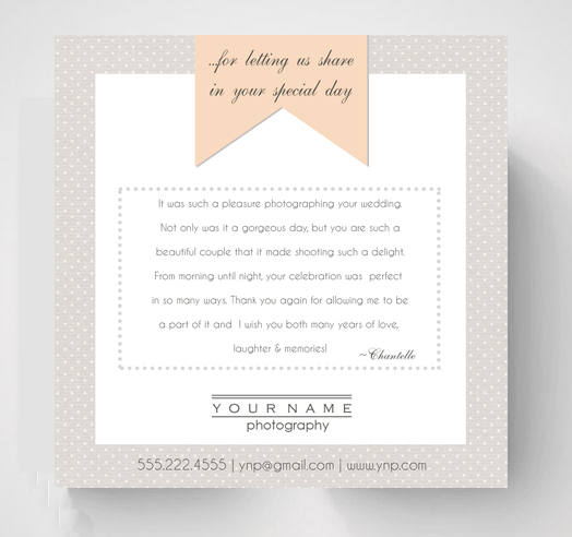 Thank You Card Template Photography Template Photoshop Template