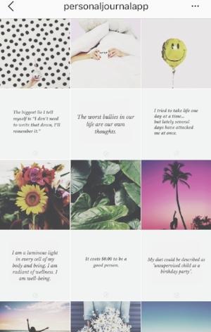 Horizontal Instagram Grid Layout