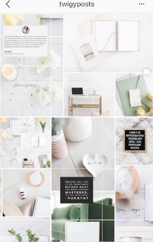 Puzzle Instagram Grid Layout