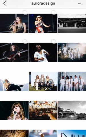 White Boarder Instagram Grid Layout