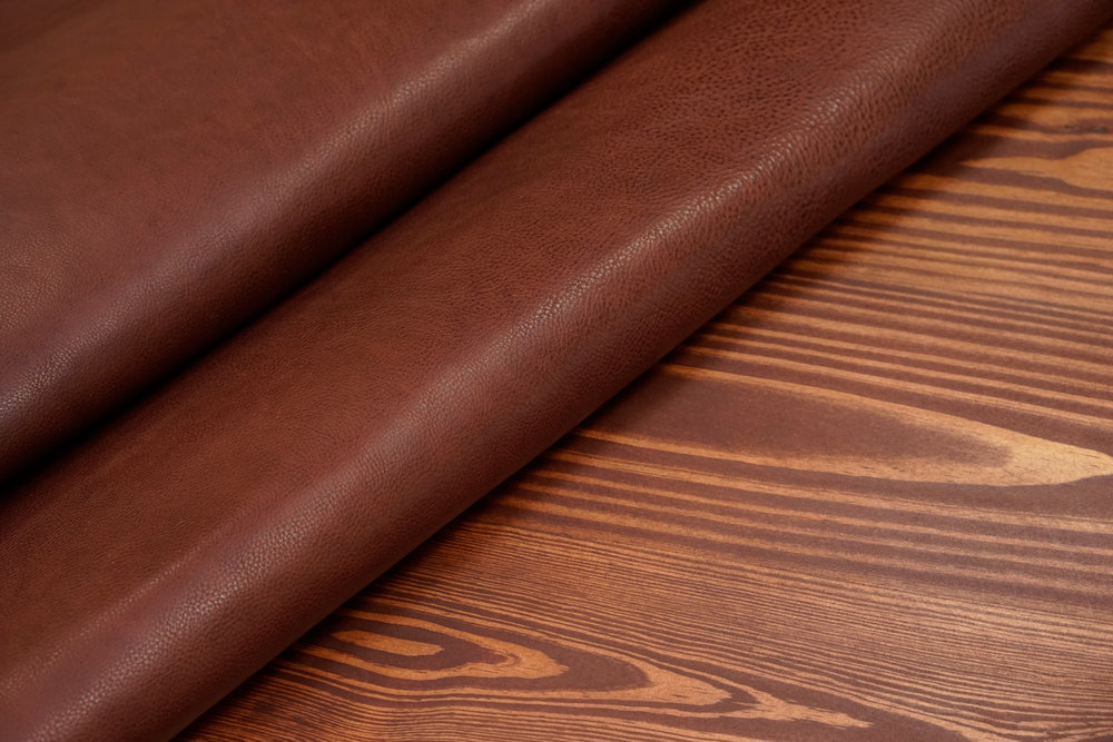"""Minerva Box - This Italian """"Minerva Box"""" is a stellar vegetable tanned leather from an artisanal tannery in Tuscany. Minerva Box leather is known for its pebbled texture and rich aroma as well as its ability to age gracefully."""