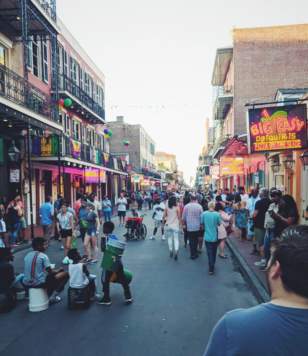 Bourbon Street. Go once, then avoid.