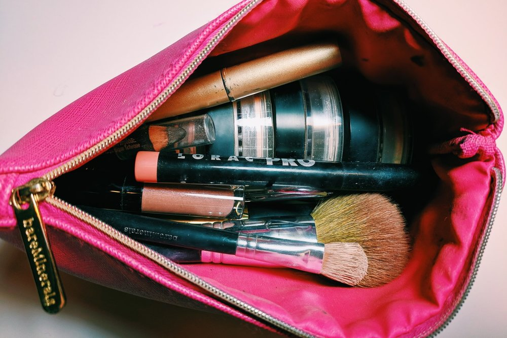 You know this is really my makeup bag because of how dirty the brushes are. 😂