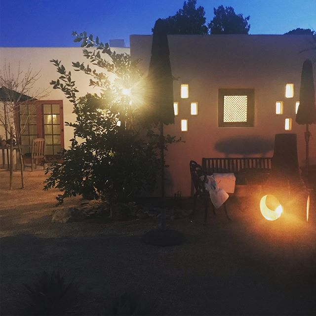 Chiminea weather @lacasacatalina #tucson #whyilovewhereilive #chiminea #winter #southwest #cozy #lightmyfire #fire #fireplace