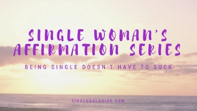 The Single Woman's Affirmation Series - Being single isn't a crime. It is what you make of it. If you focus on all the negatives,you will attract nothing but negativity. If you are so focused on being in a relationship or marriage, you will FAILto work on yourself so that you can have the tools and mental acuity needed to have a healthy relationship and be a mentally and emotionally healthy partner.