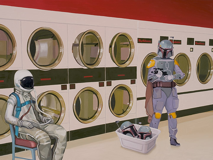 At The Laundromat With Boba Fett