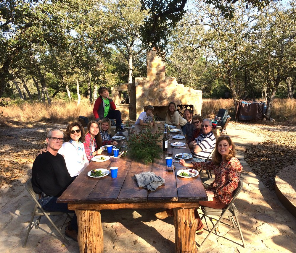 Celebrating much to be grateful for together with family and friends OUTSIDE.  2016 a picture perfect Thanksgiving Day to remember!