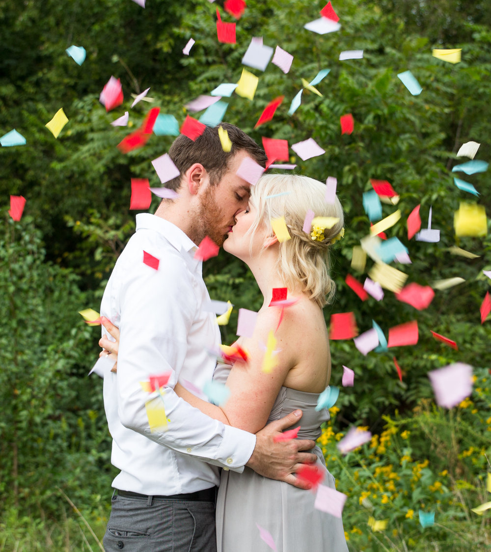 10 years of marriage is something to celebrate and of course, throw a ton of confetti!