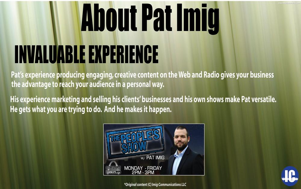 Imig Communications Invaluable Experience
