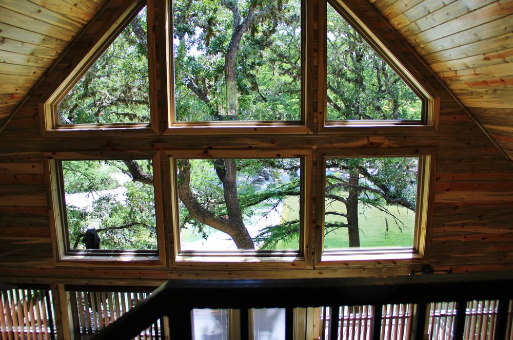 Sabine Cabin - Loft Bedroom View