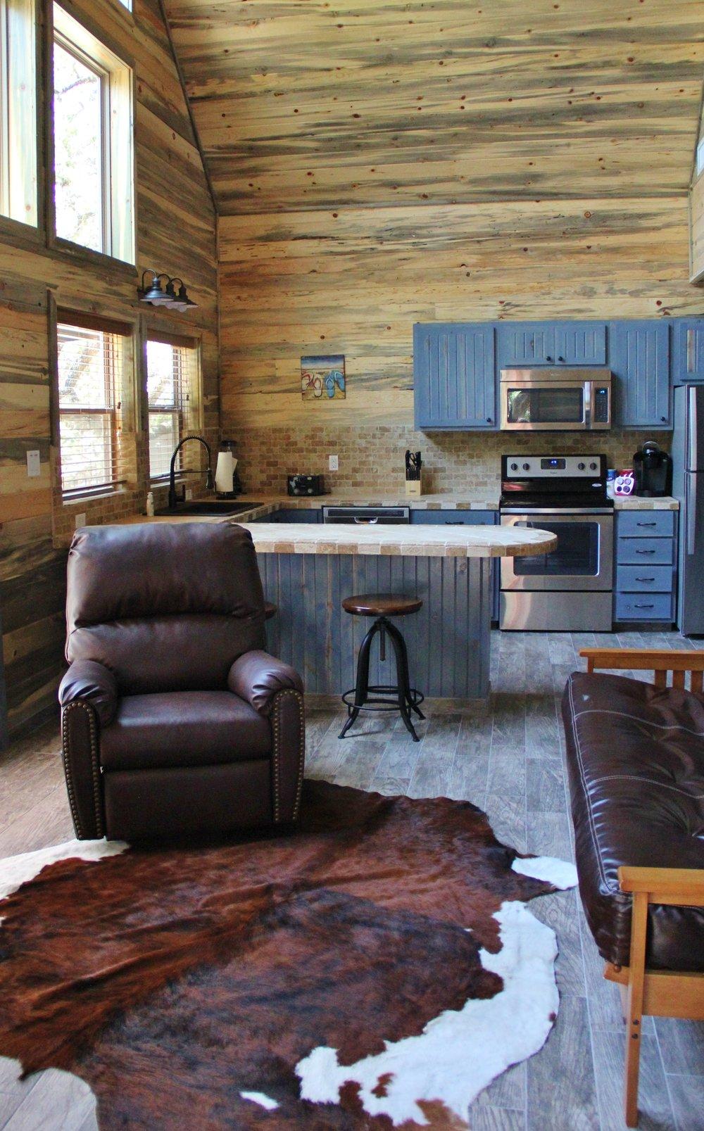 Llano Cabin - Living Area