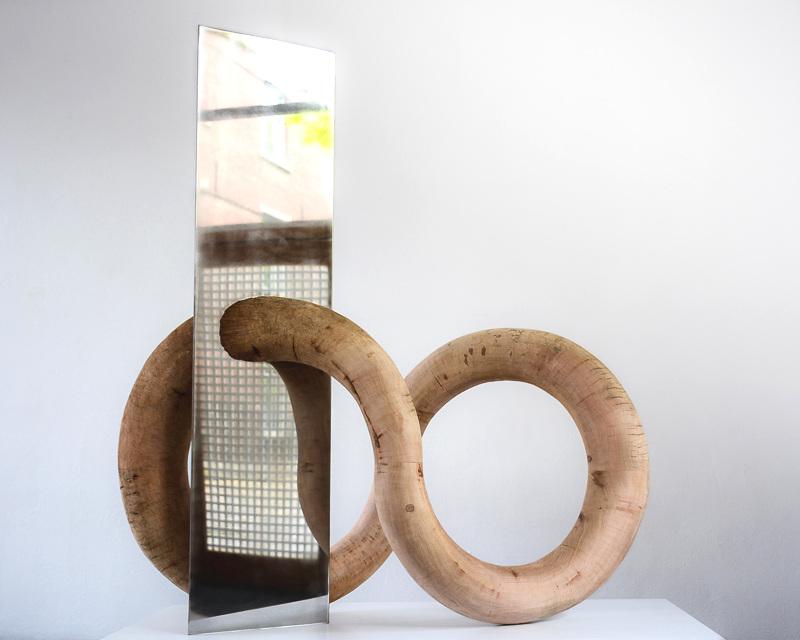 Borné - Bois, Inox140 x 140 x 70 cm2015 - 2016