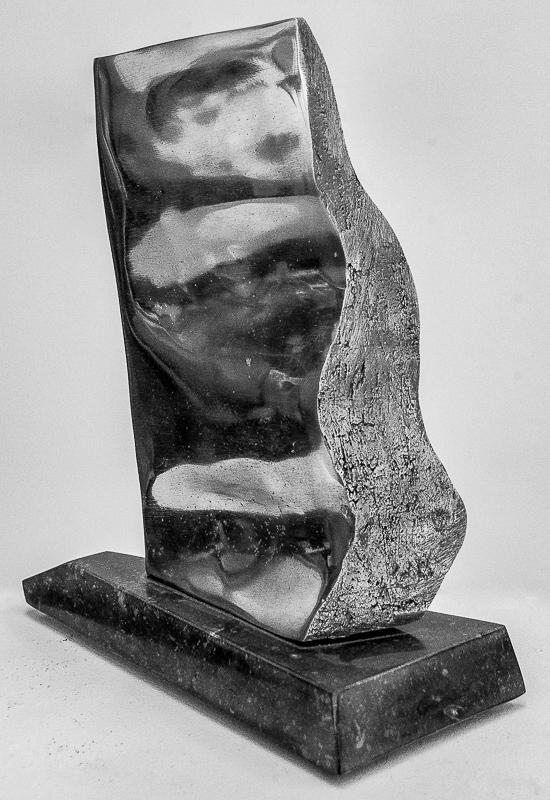 Contre-courant - Aluminium, Pierre bleue23 x 23 x 10 cm2014