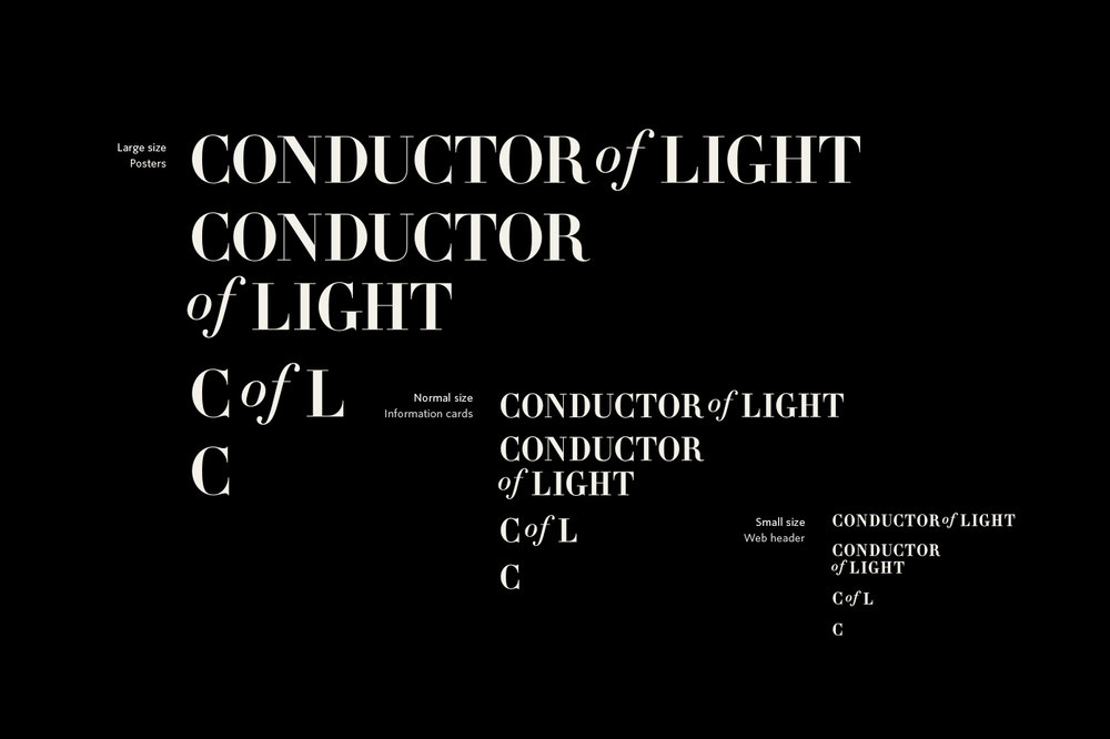 Conductor of Light logo sizes
