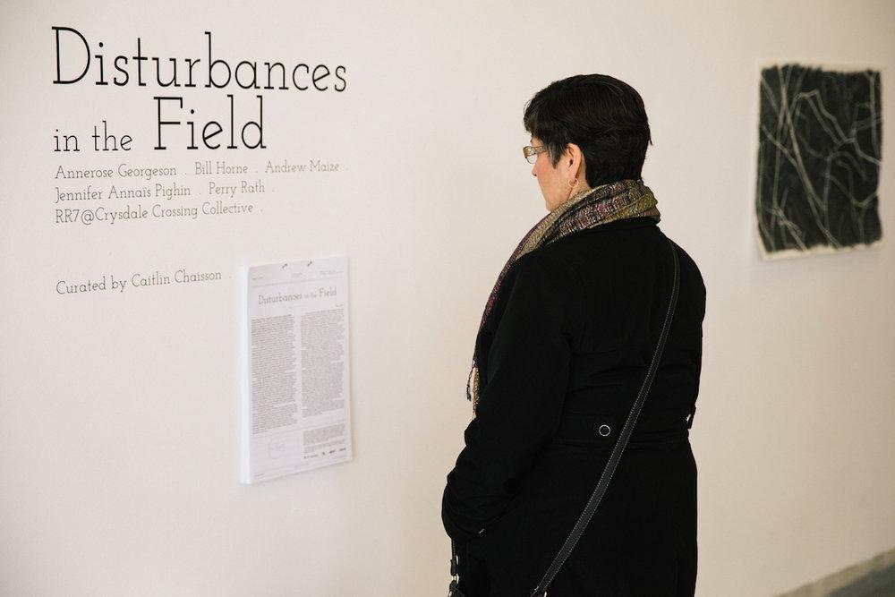 Disturbances in the Field.  2017. Exhibition opening.Photo by Denis Gutiérrez-Ogrinc.