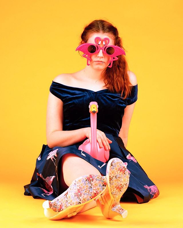 Me @freyawphotog again with another of my work! So excited to be going to London in a few weeks! #advertising #london #fake #plastic #yellow #filmisnotdead #flamingo #instagramtakeover #analogphotography