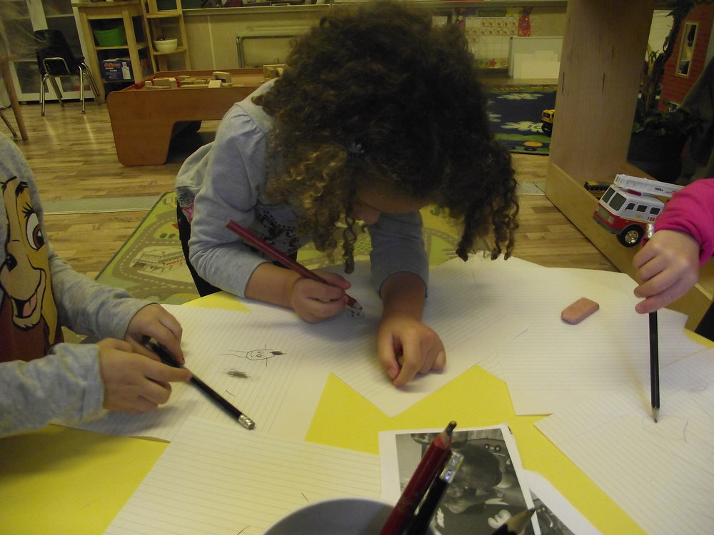 Providing children with the opportunity, to either draw or share, validates their sense of belonging and community