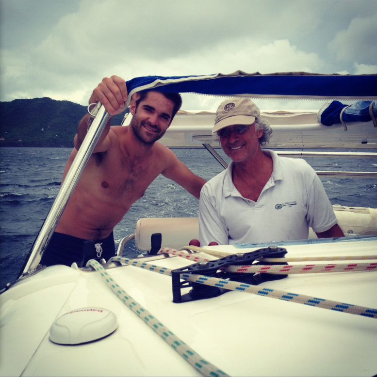 Sailing with my son, Tyler, on a chartered Leopard 40 catamaran in the Grenadines, Caribbean - (2010).