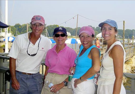 Coaching PYC women at Noroton Yacht Club Women's Invitational - Noroton, CT (2003)