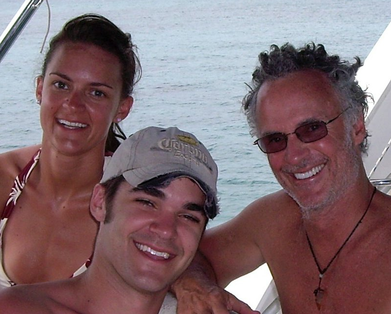 Cruising off with my daughter Kate and my son Tyler  in the Belize (2006)