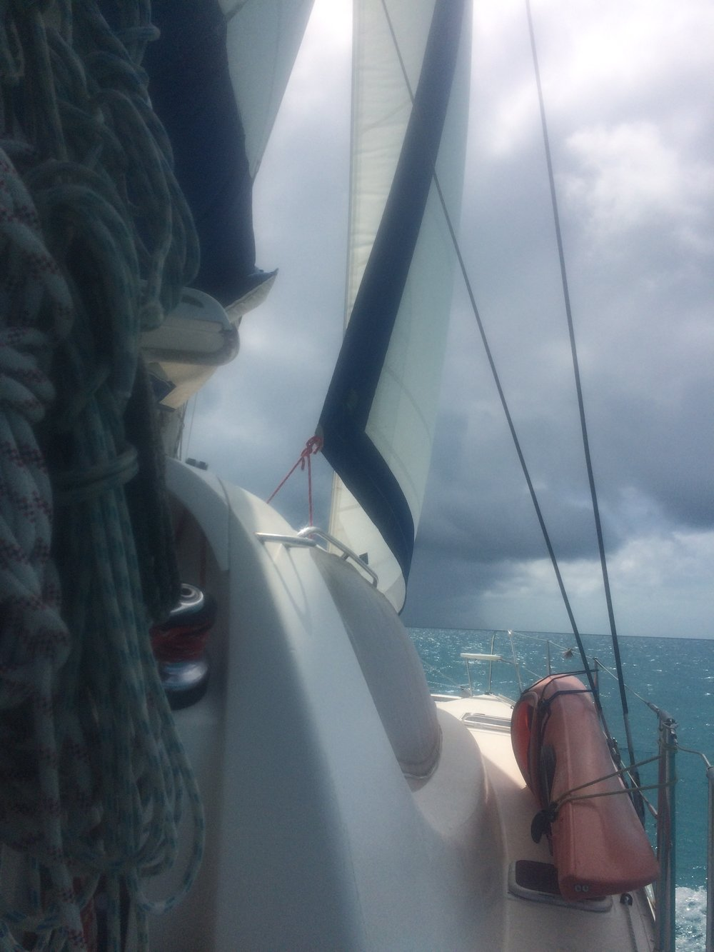 Our sail to Cambridge Cay presented us with some picturesque moments on our 3rd day.