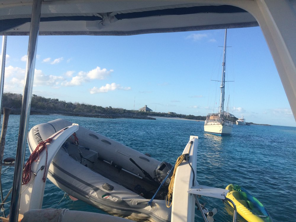 Other than a stubborn starter, Mystique's dinghy had other issues when we visited the Exumas.