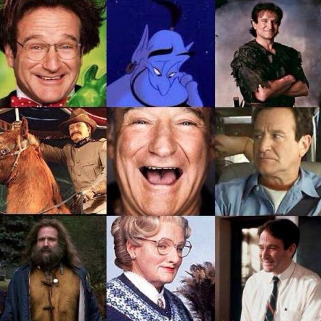 Talk about talented depth and breadth - Robin Williams. Miss his quick-witted humor and intelligence.