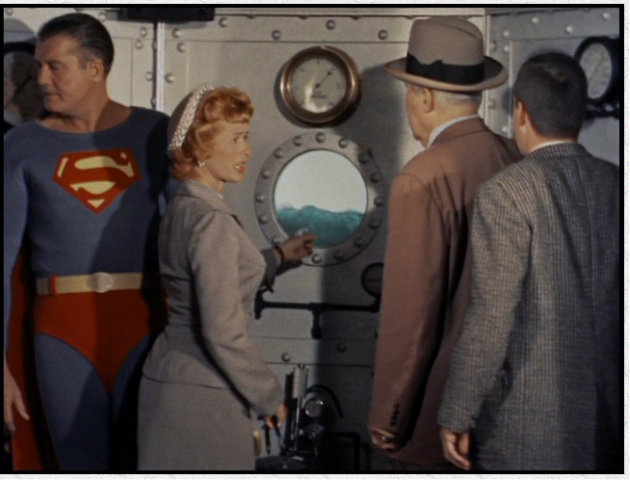 In a Superman episode Lois Lane helps Superman dry the water overhead and save the day.