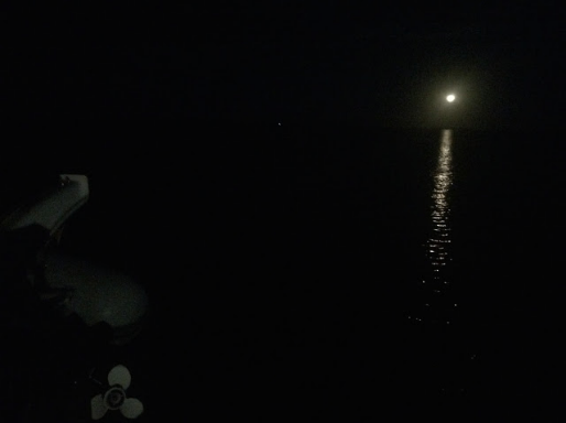 The moon's night light finally appears as I make my way to the Bahamas and discovering more about myself.