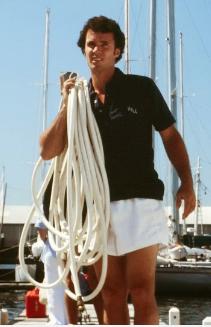 Henry Lane in 1978 in Newport prior to the Newport-Bermuda Race