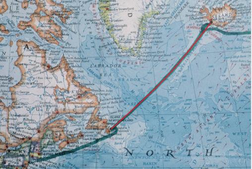 First 1500 miles: Newport, RI - Reykjavik, Iceland