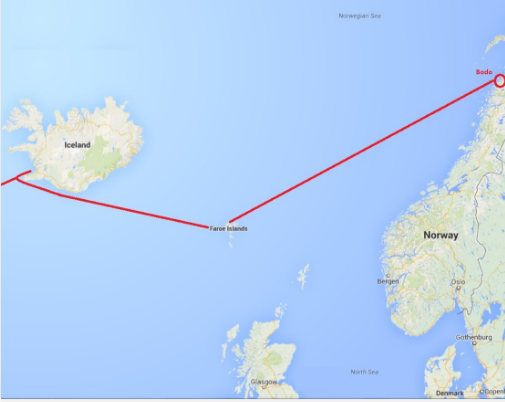 The second 1500 miles: Reykjavik, Iceland - Bodo, Norway