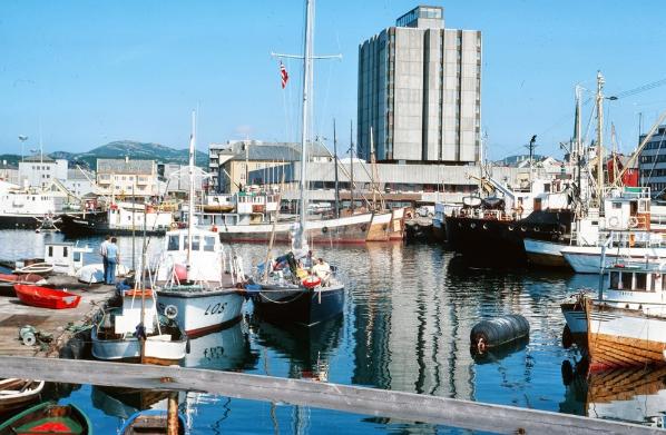 Reindeer  finds a temporary berth an Icelandic alongside a coast guard vessel.