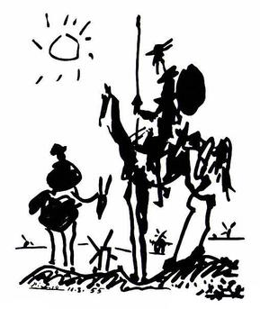 By reading too much about chivalry, Don Quixote's misperceptions lead him into trouble.