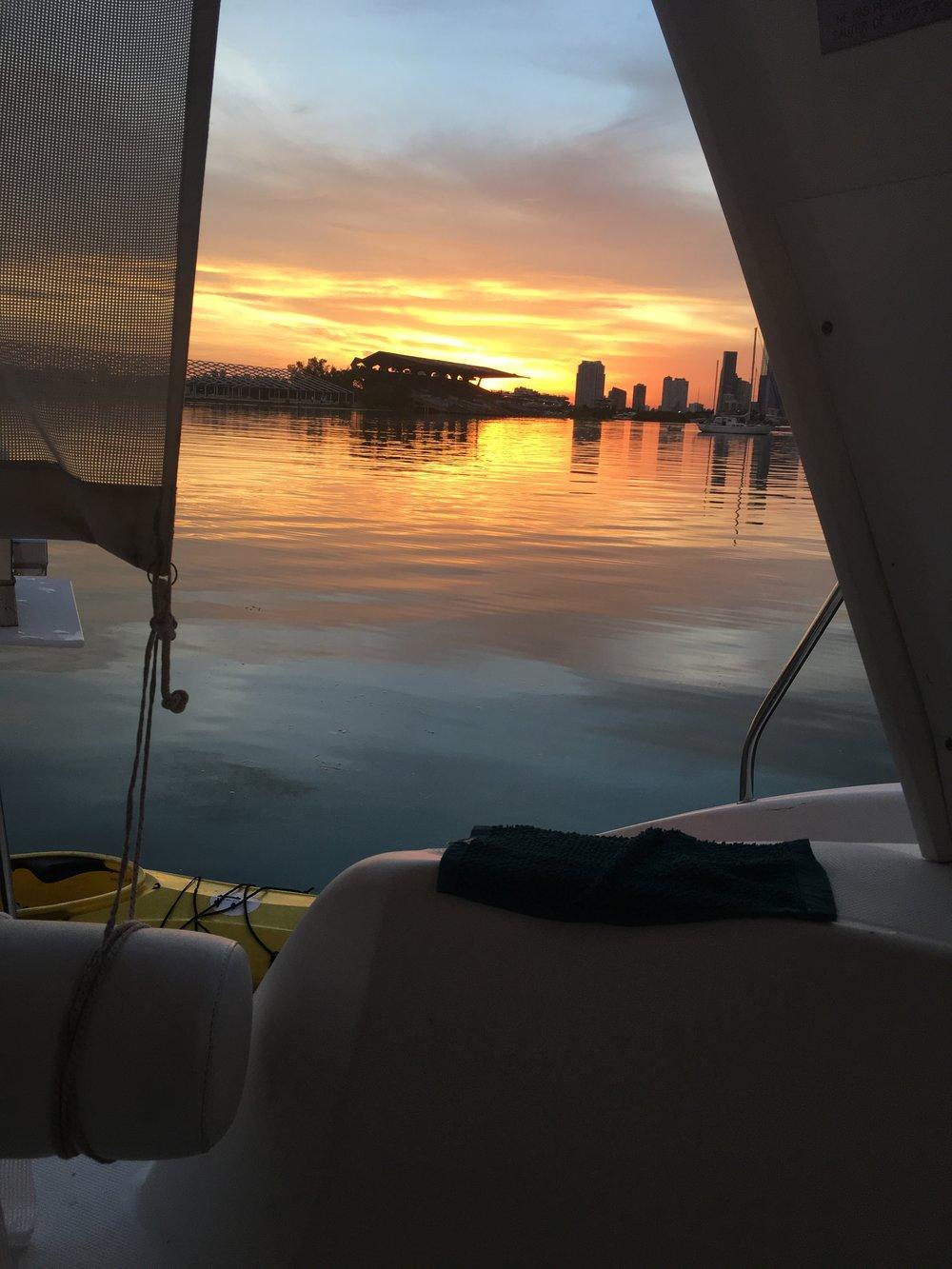 A Marine Stadium and Miami sunset