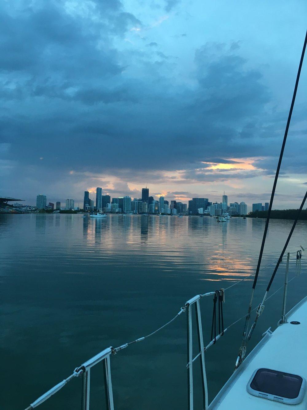 A calm Miami morning
