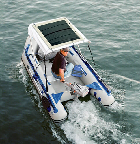 Sail solar panels atop an inflatable.