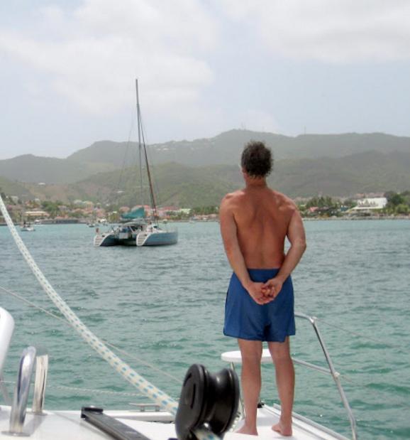 On  Mystique  in  Marigot Bay, Sint Maarten, 2008