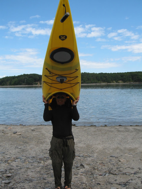 Headed for a paddle near Bar Harbor, Mainenear Bar Harbor, Maine