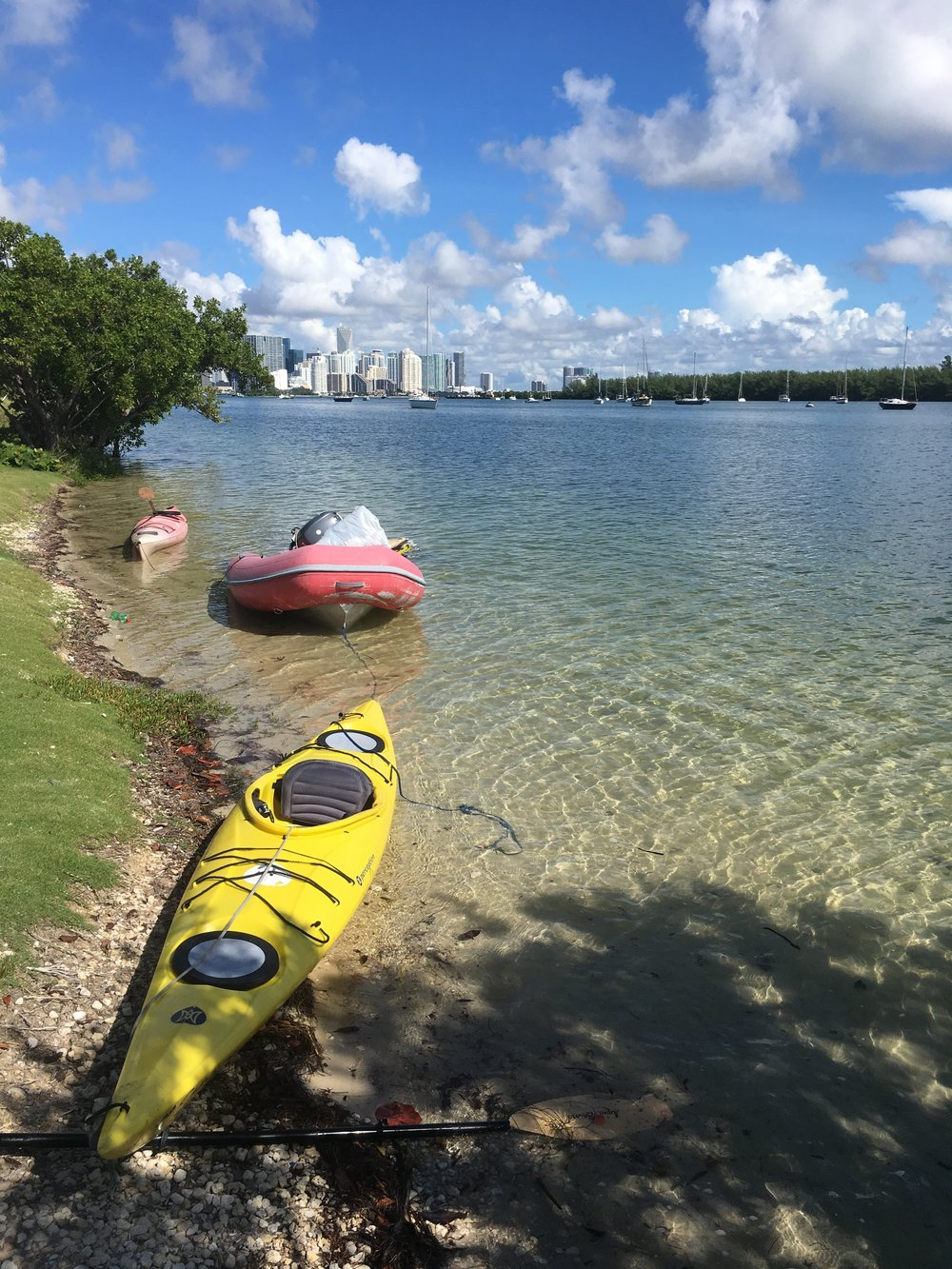 Thursday Sept 7, 2017 around noon I paddled ashore with dinghy and my other kayak in tow.